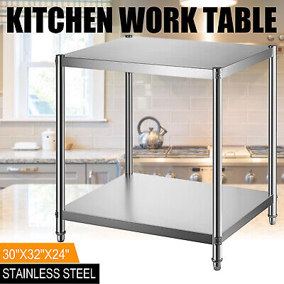 Stainless Steel Kitchen Work Prep Table Bench Commercial Restaurant 24x30