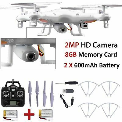 8GB X5C-1 2MP HD Camera 2.4Ghz 6-Axis UAV RTF Quadcopter Drone UFO Gyro RC New