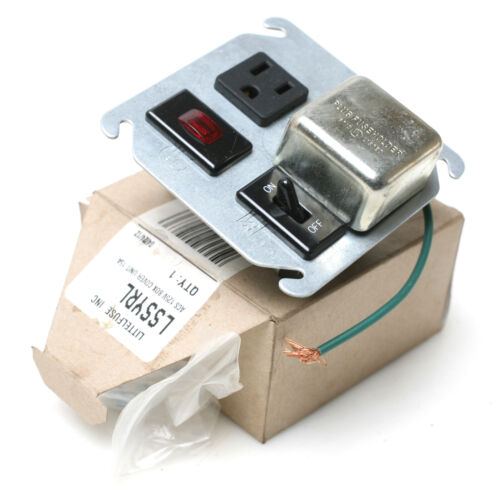 Littlefuse LSSYRL Fuse Holder 125V/15A Box Cover 4""