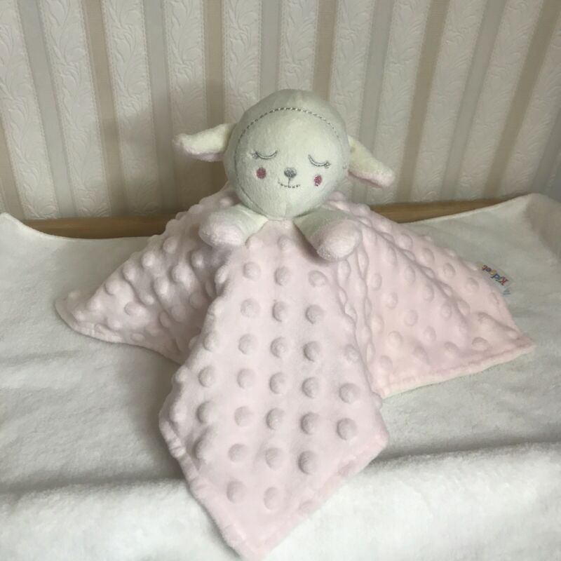 Kidgets Lovey Lamb Baby Security Blanket Texture Minky Dots Blankie