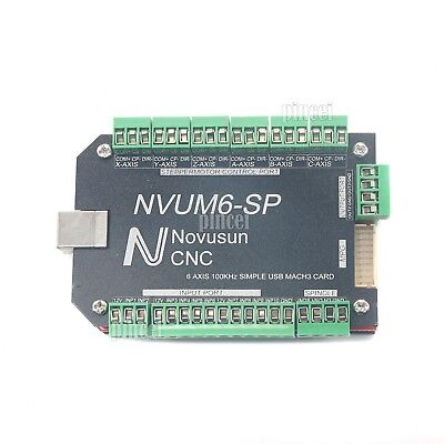 Mach3 6axis Usb Cnc Card Controller Interface Board F Stepper Motor Nvum6-sp