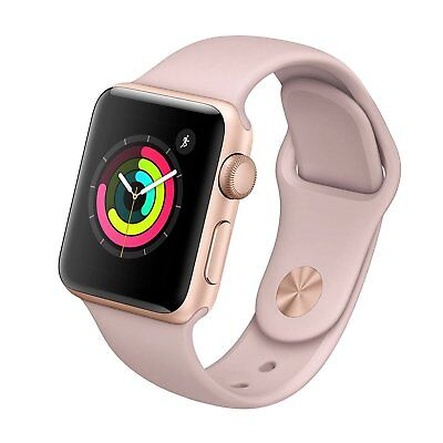 Apple Watch Series 3 38mm Rose Gold Aluminium with Pink Sport Band GPS