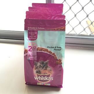 Whiskas Kitten (2 to 12 months) Chicken & Tuna flavour (4 packets) Balga Stirling Area Preview