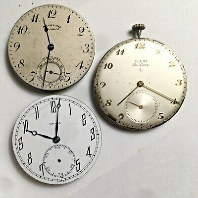 Assortment of Mechanical Pocket Watch Movements Running