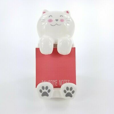 White Cat Sticky Note Post-it Note Holder M10430-66335