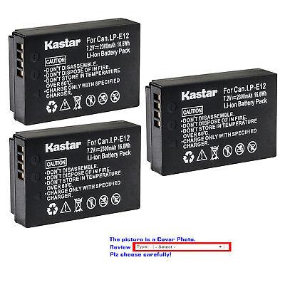 Kastar Replace  Camera Battery for Canon LP-E12 LC-E12 & Canon EOS M100 Camera ()