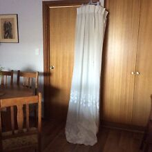 Pair Ivory Semi Sheer pencil pleat curtains Hahndorf Mount Barker Area Preview