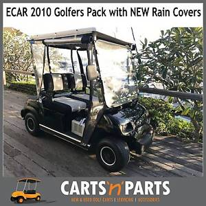 2011 ECAR Golf Cart Buggy New Rain Covers & NEW  Seat Covers Hope Island Gold Coast North Preview
