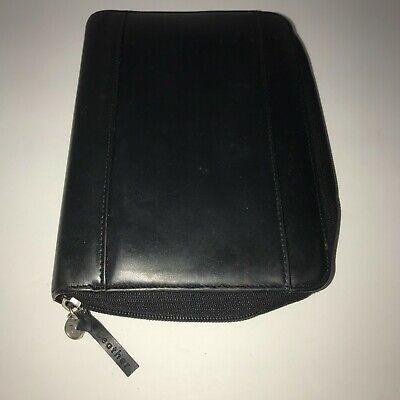 Franklin Covey Black 365 Leather Binder Planner Organizer 6 Ring Zip Around