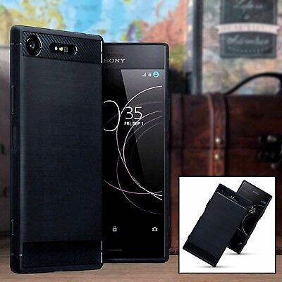 Xperia XZ2 COMPACT Urban Element Case Carbon Design Bumper Black CASPORT™