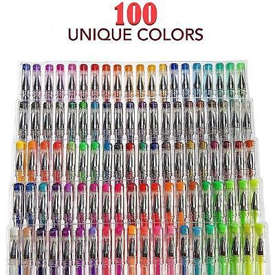 100 Gel Pens Set Glitter Metallic Neon Individual Colors for Kids/Adult - Colors For Kids