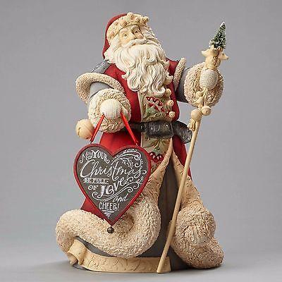 4052751 Heart of Christmas Deluxe Santa NIB  Masterpiece Staff & Heart Sign