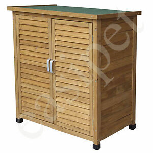 Wood garden shed tool storage lawn mower outdoor wooden for Small lawnmower shed