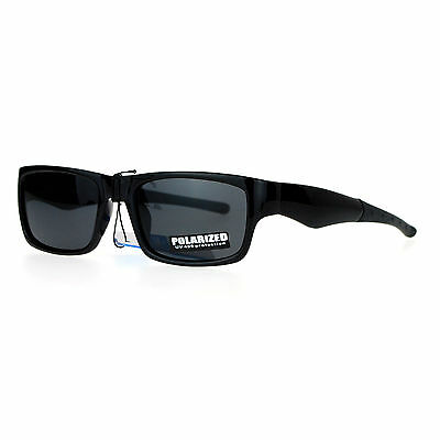Polarized Lens Sunglasses Mens Small Rectangular Classic Plastic -