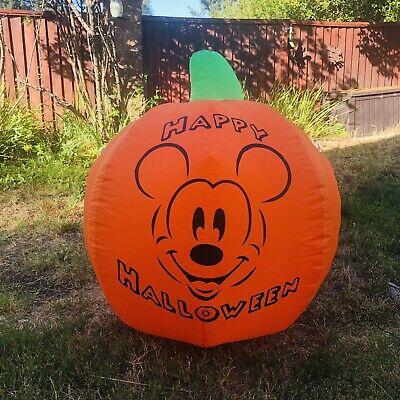 Gemmy Disney Mickey Mouse Halloween Pumpkin Airblown Inflatable Yard