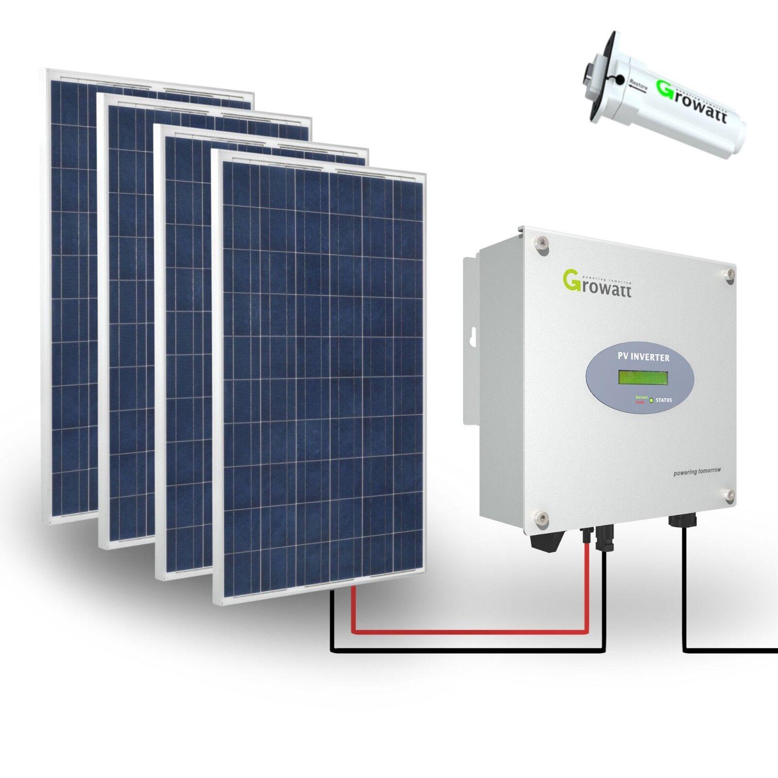 1000w Solaranlage Komplettpaket 220v 4x Akku 280ah Solarpanel 2000w Watt 24v Erneuerbare Energie
