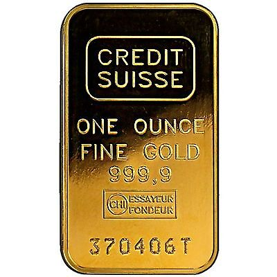 Credit Suisse 1oz Gold Bar