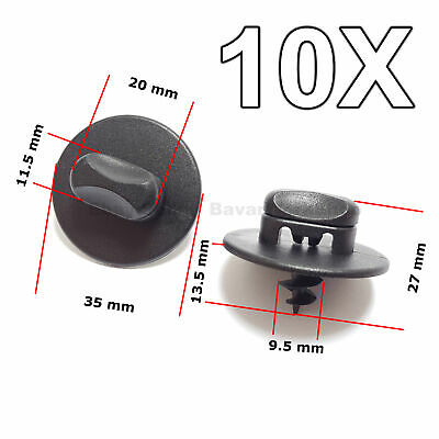 Twist 3 Licht (10X Bodenmattenclips, Twistlock-Verschlüsse für Volkswagen, AUDI, SKODA, SEAT)