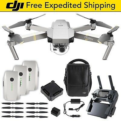 DJI Mavic Pro PLATINUM | Fly More Combo Bundle Drone Quadcopter Withdrawn Propellers