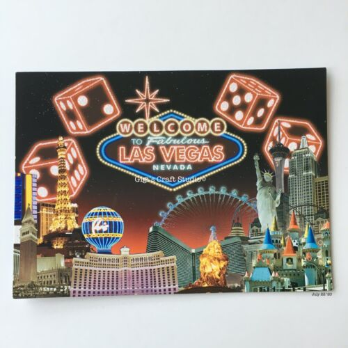 """1pc Post Card 5"""" x 7"""" Welcome to Fabulous Las Vegas Nevada"""
