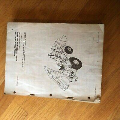 Case Model 780ck Construction Loader Backhoe Tractor Parts Catalog Manual