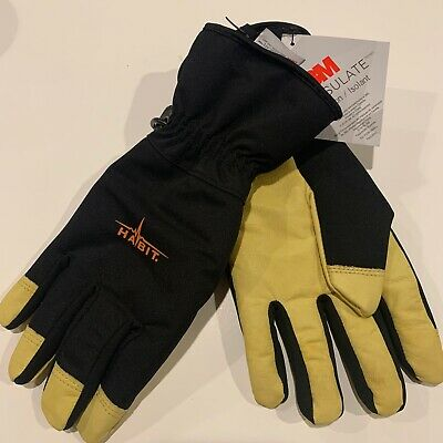 Habit Insulated Waterproof Multi Purpose Work Gloves Goatskin Leather 3m Quality