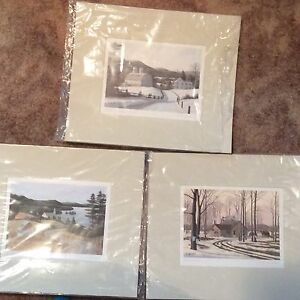 Unframed pictures