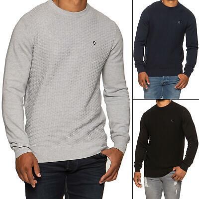Mens Jumper Knitted Sweatshirt Crew Neck Casual Formal Winter Sweater Knitwear