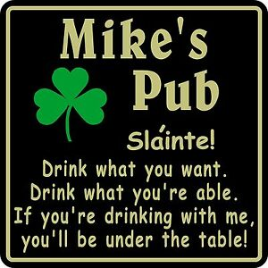 New-Personalized-Custom-Name-Irish-Pub-Bar-Beer-Home-Decor-Gift-Plaque-Sign-14