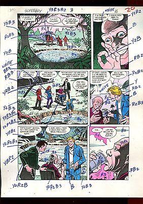 SUPERBOY 3 VOLUME 2 PAGE 16 COLOR GUIDE-ORIGINAL ART-1 OF A KIND-JURGENS-MOONEY