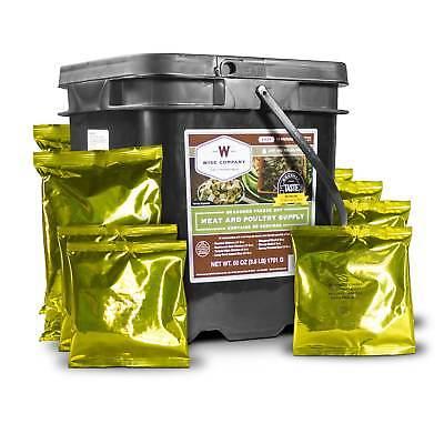 Wise Food Emergency Survival Food Bucket Dried Freeze 60 Meat Servings 20 Rice