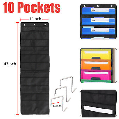 10pockets Wall Hanging File Folder Organizer For Office Home School Pocket Chart