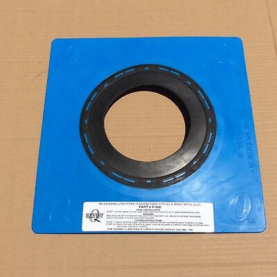Quckflash P-600 No Caulking Pipe Flashing Panel Fits 6 Sheet Metal Duct