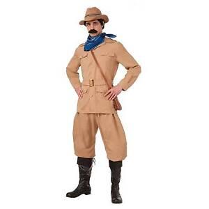 Theodore Roosevelt US President Historical Fancy Dress Halloween Adult Costume