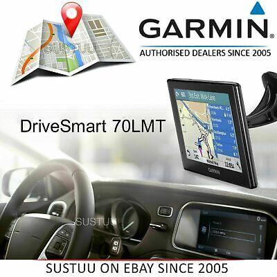 "Garmin DriveSmart 70LMT 7"" GPS SatNav Free Lifetime UK EU Map Update+Traffic"