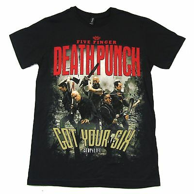 Zombie Punch (Five Finger Death Punch Zombie Killing Got Your Six Black T Shirt New)
