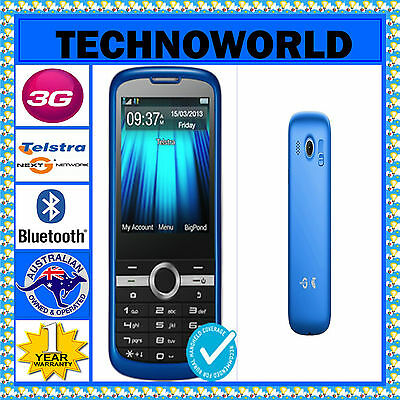 **UNLOCKED**TELSTRA ZTE T96 BLUE+3G+BLUE TICK/RURAL/REGIONAL+ANTENNA/RF PORT+FM