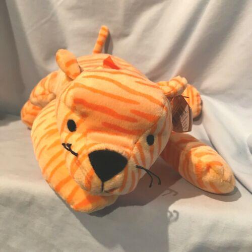 "Purr Tiger Ty Pillow Pal #3016 Orange & Yellow 15"" 1996  $19..99"