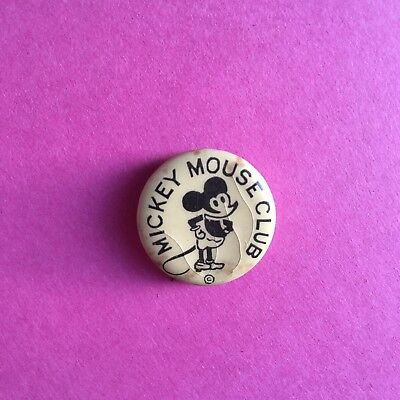 Vintage 1930's Disney Mickey Mouse Club Celluloid Button Stick Pin RARE!