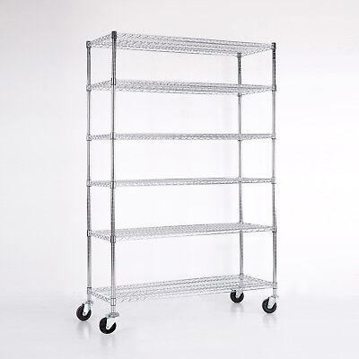 456 Tier Heavy Duty 82x48x18 Wire Shelving Rack Steel Shelf Adjustable