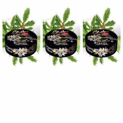 3x Körpercreme schwarzer Wacholder Mandelöl Duft aromatisch Gesichtscreme Creme