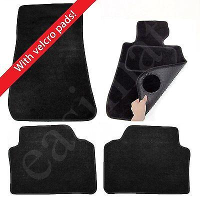 BMW 3 Series E90/E91 2005–2013 Tailored Carpet Car Mats Black 4pcs Velcro Tabs