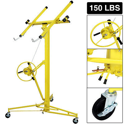 16FT Drywall Lift Plasterboard Panel Rolling Lifter Lockable Industrial Tool for sale  USA