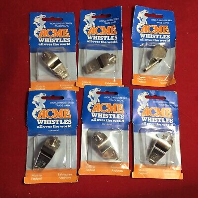 Lot of 6 Vintage The Acme Thunderer  Whistle-Made in England-NEW