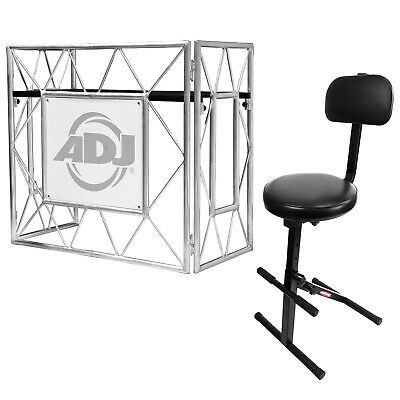 American DJ Pro Event Table II Workstation Facade Frontboard + Gig Chair