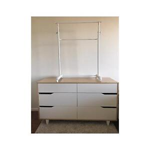 Set of drawers + clothing rack North Bondi Eastern Suburbs Preview