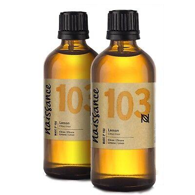 Naissance Zitronenöl 200ml (2x100ml) 100 naturreines ätherisches Öl Duftöl