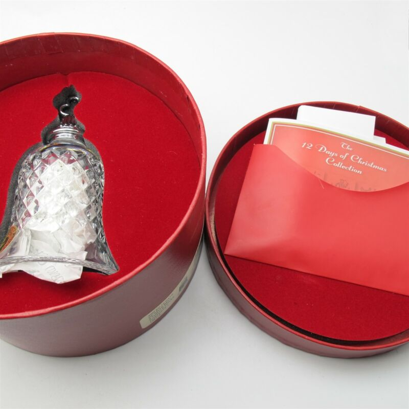 Waterford Crystal 12 Days of Christmas Bells 2 Turtle Doves W/ Box Very Nice