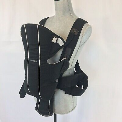 BabyBjorn ACTIVE Sporty Baby Carrier Black Gray Sling Backpack Lumbar Support Baby Bjorn Active Backpack