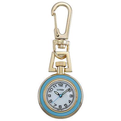 Gotham Unisex Gold-Tone Analog Quartz Keychain Clip Fob Watch # GWC18107-6G